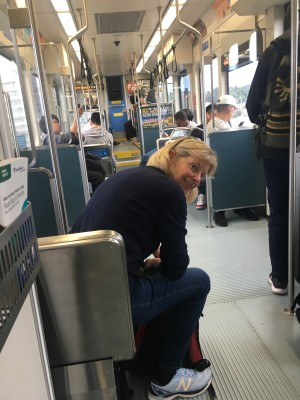 Jill feeling good after escaping the Light Rail Police