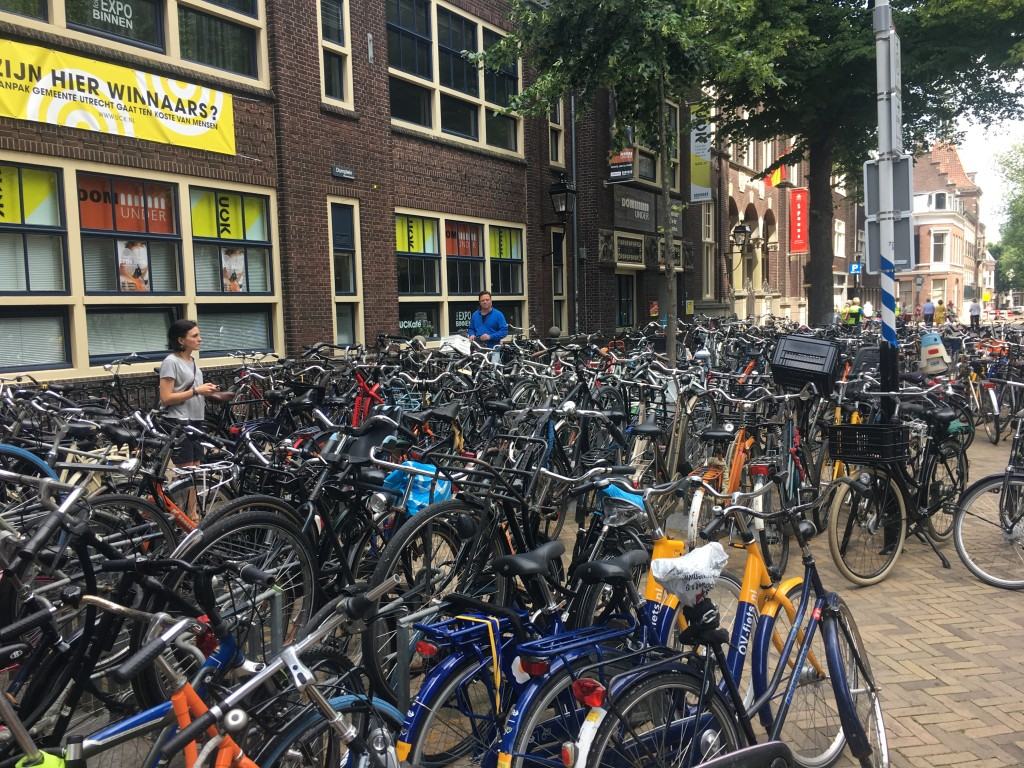 Very typical bicycle parking