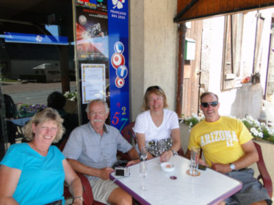 Beer and wine break in Champvert