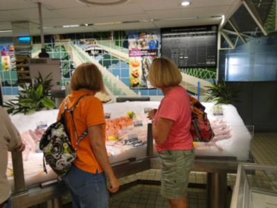 Dawn and Jill shopping for our initial provisioning