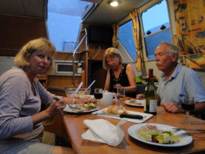 Dinner on boat in Baye