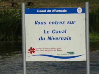 Entering the Nivernais Canal