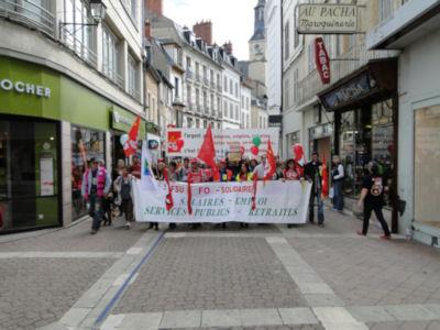 Public workers on strike