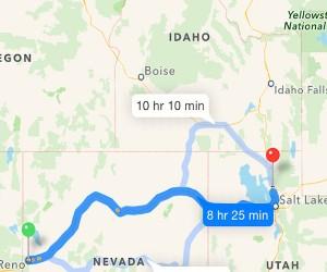 Day 2: Reno, NV to Ogden, UT