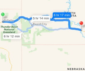 Day 4: Gillette, WY to Oacoma, SD