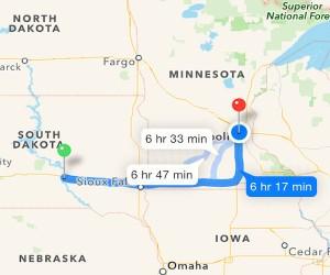 Day 5: Oacoma, SD to Minneapolis, MN