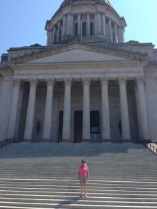 Jill at the Capitol