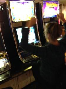 Chris winning at slots - alas, it didn't last