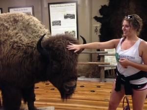 Chris at Bison Museum