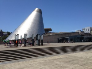 Docked outside Tacoma Glass Museum