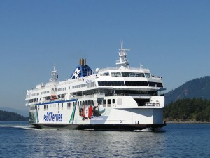 Close encounter with a BC Ferry north of Sidney
