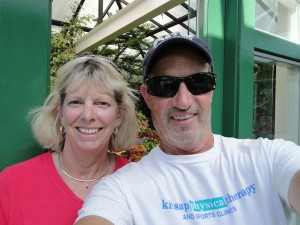 Jill and Henry selfie at Butchart Gardens