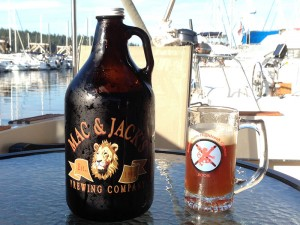 Life is good - a refilled Mac and Jack's growler