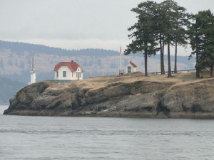 Stuart Island lighthouse en route to Poets Cove