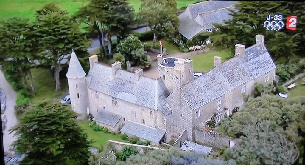 Medieval village shown on TV during the Tour de France