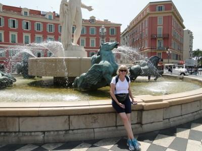 Jill enjoying Nice