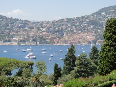 View towards Villefranche-sur-mer from Saint-Jean-Cap-Ferrat