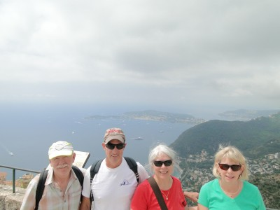Rich, Henry, Dawn and Jill at the summit of Èze