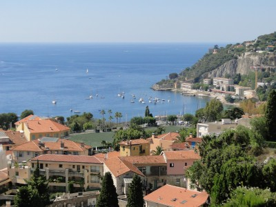 Villefranche rooftops from the Mont Alban trail