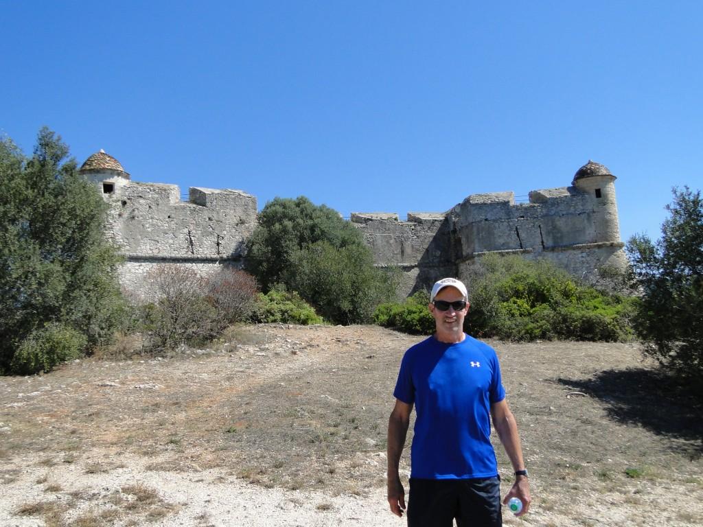 Henry Warner in front of Fort du Mont Alban