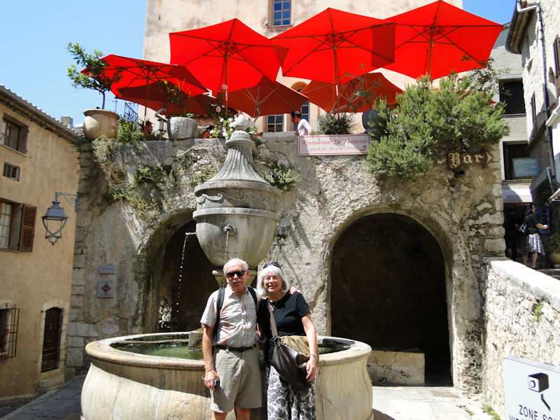 Rich and Dawn in St Paul de Vence
