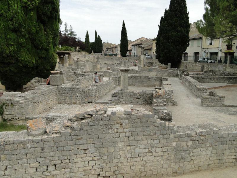 Ruins of the Roman town of Vaison-la-Romaine