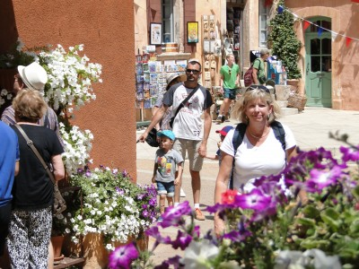 Jill hunting for bargains in colorful Roussillon