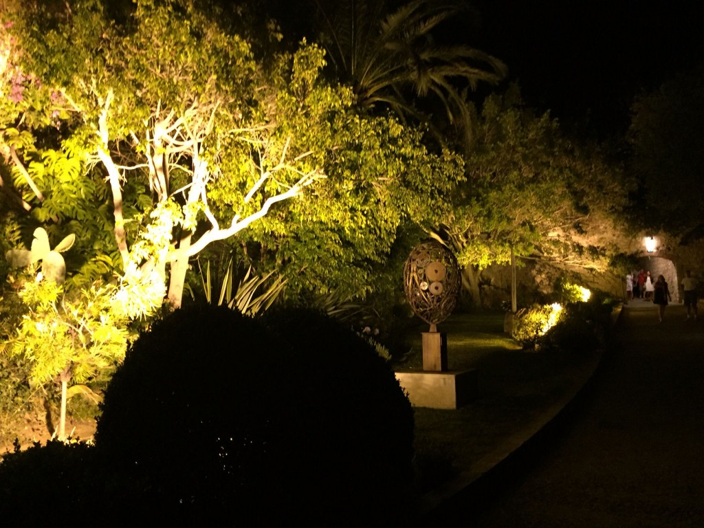 The citadel garden at night