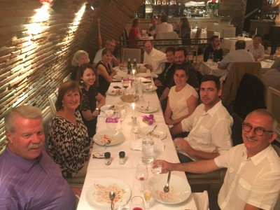 Roger, Dizela, Chloé, Jill, Nicole, Gilbert, Henry, Marie José, David, Sarah, Nicholas, & François at the