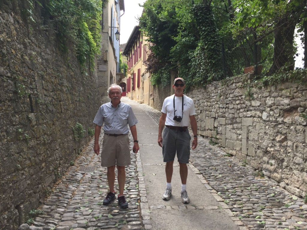 Rich Davis and Henry Warner in Vaison-la-Romaine