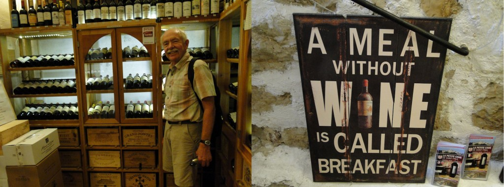 Rich Davis in the medieval wine cellar