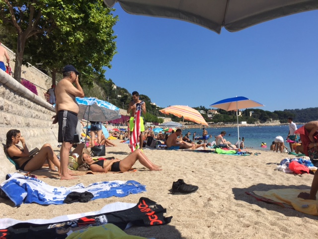 Villefranche PG rated beach scene