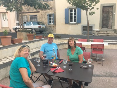 Jill, Roger and Dizella at La Fourchette Folle