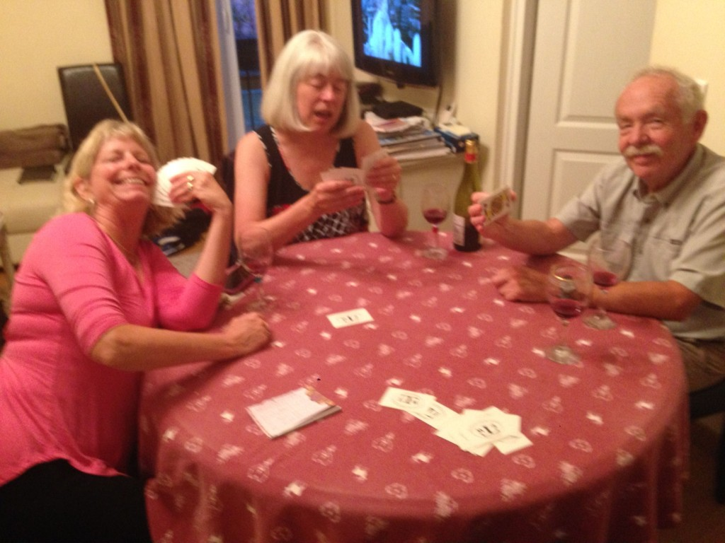 Typical after-dinner game of hearts