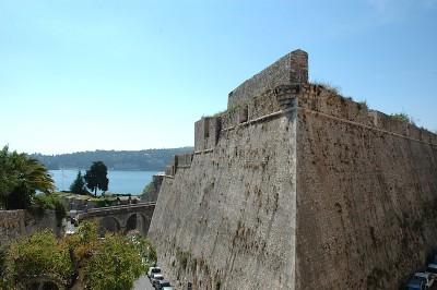 Villefranche citadel outer walls