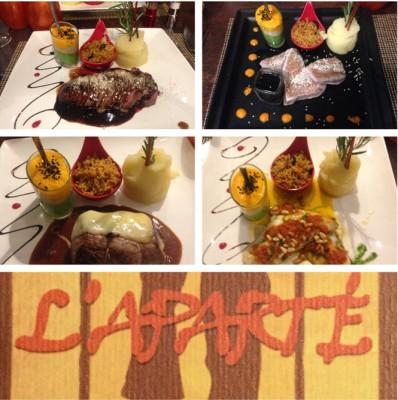 L'Aparte Restaurant Dinner