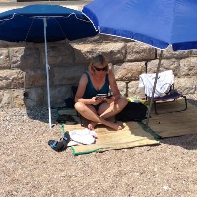 jill at beach