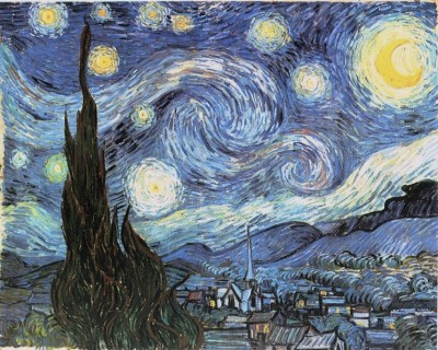 Starry Night by Vincent Van Gogh Junne 1889